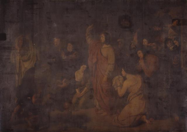 The Raising of Lazarus 1821-3 by Benjamin Robert Haydon 1786-1846